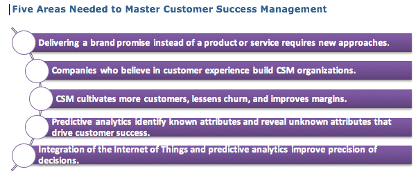 5 Areas for Customer Success Management