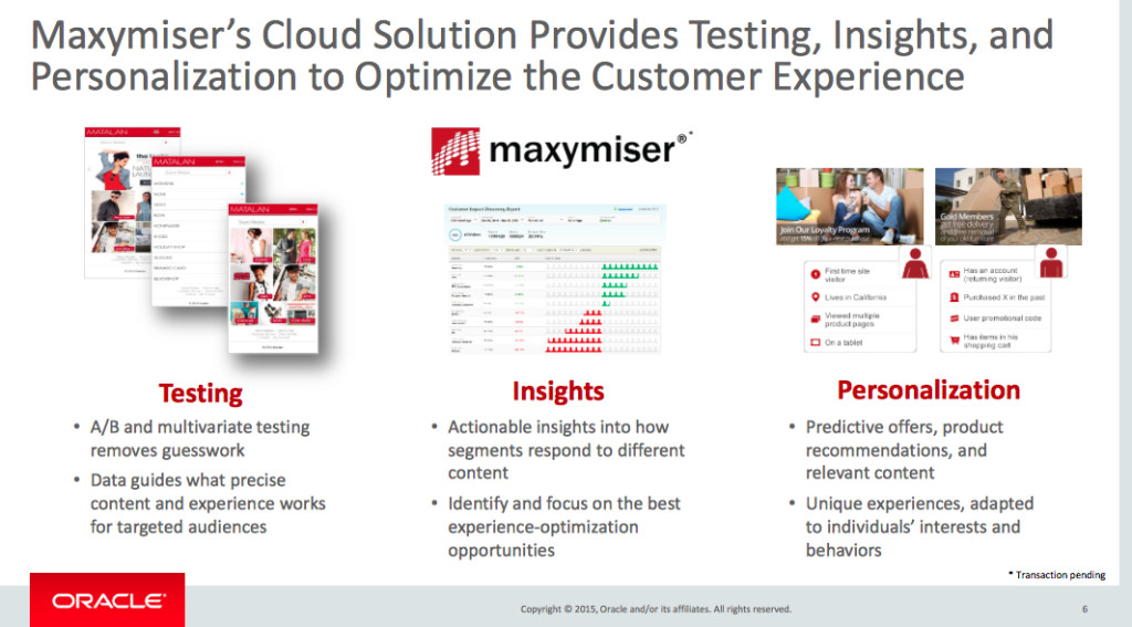 Maxymiser How it Works Oracle