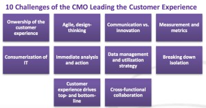 10 challenges of the CMO in leading the customer experience natalie petouhoff constellation research