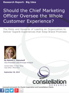 Should CMO Lead The Whole Customer Experience