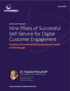 Nine pillars of customer self-service natalie petouhoff @drnatalie