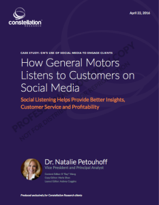 how GM listens in social media for marketing and customer service @drnatalie