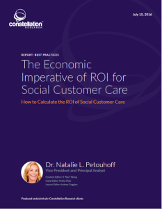 Economic Imperative of The ROI of Social Customer Service
